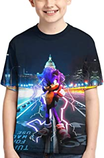 Sonic T-Shirts 3D Printed Crew Neck Short Sleeve Tee Shirt for Boys and Girls Fashion Tops