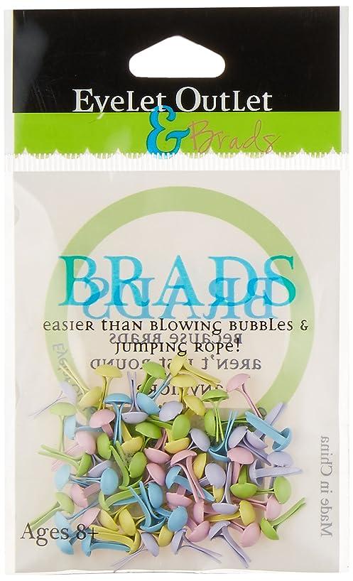 Eyelet Outlet Round Brads, 4mm, Spring