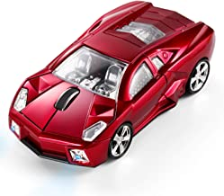 BKLNOG Sports Car Shaped Computer Mouse [Updated] with LED Headlights, 1600 DPI Optical Sensor 2.4 GHz Wireless Mouse for ...
