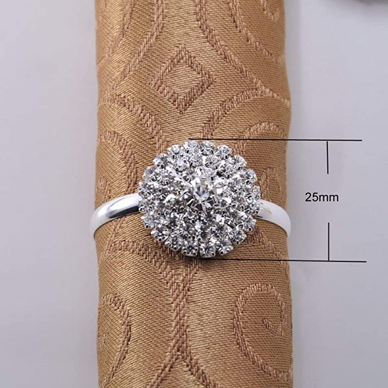 20pcs Napkin Ring Serviette Holder For Wedding Party Dinner Table Decoration Accessories