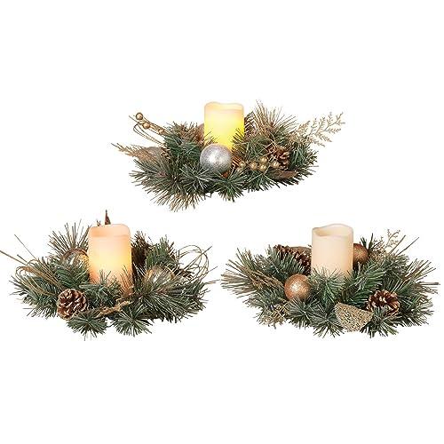 Christmas Candle Rings.Christmas Candle Rings Amazon Com