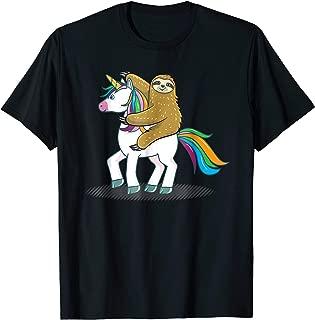 Funny Sloth Riding Unicorn T-Shirt