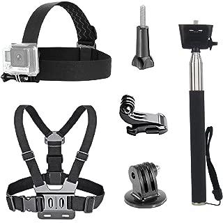 Brustgurt TEKCAM Action-Kamera-Zubeh/örset kompatibel mit GoPro Hero 8 7 6 Apeman Akaso EK7000 Camprk 4k Action Kamera Kopfgurt Handgelenkschlaufe