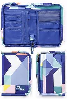 1Pcs Travel Wallet Passport Holder Waterproof Document Card Organiser with Hand Strap Zip Closure