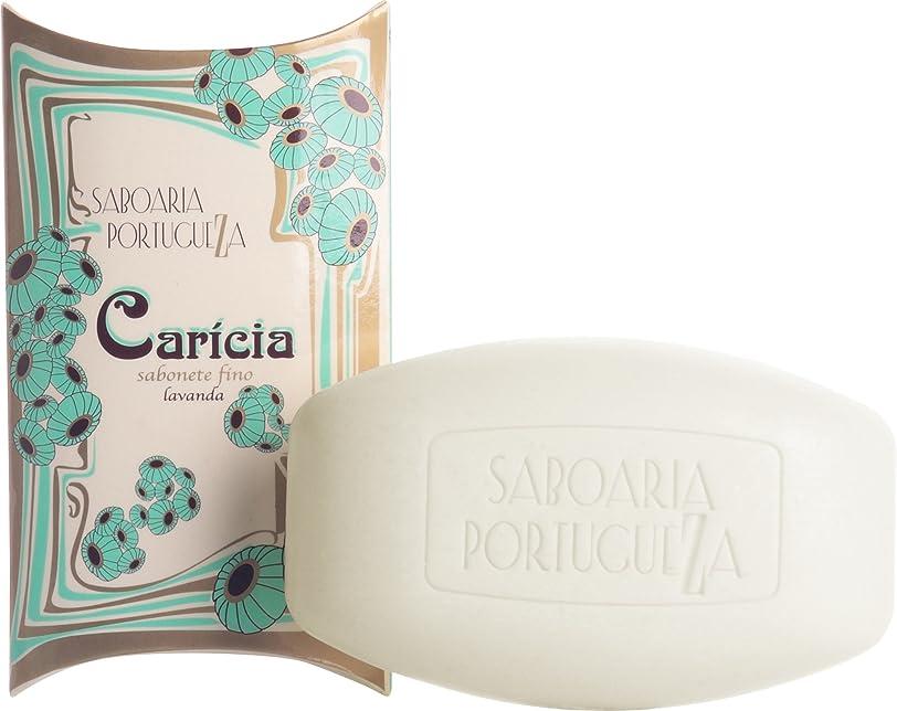 序文りんご一貫性のないサボアリア カリシア/caricia ソープ150g ラベンダー