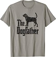 The Dogfather T-Shirt, Bloodhound silhouette, funny dog gift T-Shirt