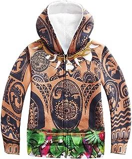 PCLOUD Maui Childrens Thickened Hoodies Coat Jacket Fleece Warm Winter Outwear Jacket