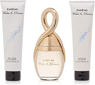 Wishes & Dreams by Bebe for Women - 3 Pc Gift Set 3.4oz EDP Spray, 3.4oz Body Lotion, 3.4oz Shower Gel