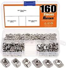Rustark 160Pcs 2020 Series M3 M4 M5 European Aluminum Extrusions Slim T-Nut Hammer Head Fastener Nut Assortment Kit for Aluminum Profile