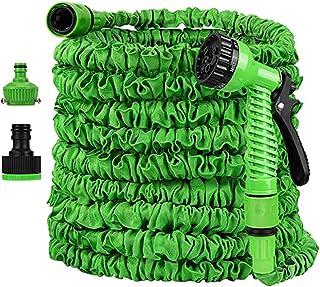 le jardin pour larrosage de jardin vert Tuyau darrosage FEALING flexible 15 m 50 FT avec connecteur en laiton massif avec douchette pour la maison