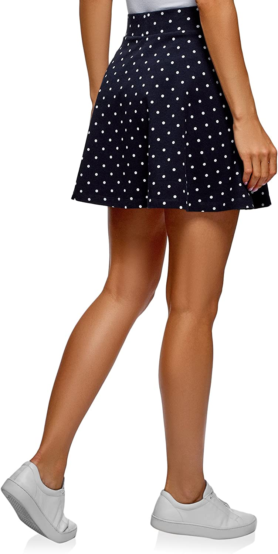 oodji Ultra Womens Flared Cotton Skirt