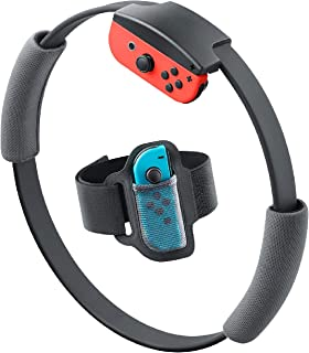 Switch リング フィット 交換用 グリップ リングフィットアドベンチャー 弾力性 サイズ調整可能 レッグバンド For Joy-Con ハンドル Ring Fit Adventure 灰色