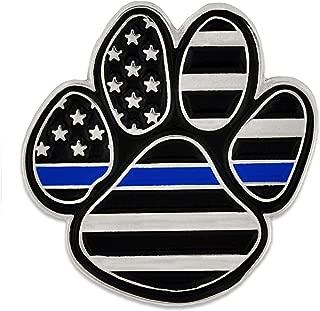 PinMart Law Enforcement Thin Blue Line K9 Police Dog Paw Print Lapel Pin