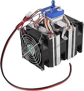 DIY Mini Módulo Refrigerador de Semiconductor Refrigerador de Doble Núcleo Termoeléctrico para Tanque de Peces Sistema de Refrigeración con Ventilador (120W)