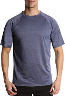 Men's Athletic T Shirt - Short Sleeve Shirt - Active Fit Quick Dry Workout Gym Running