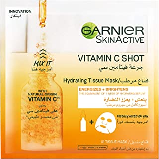 Garnier Skin Active Fresh - Mix Tissue Mask with Vitamin C (Pack of 1)