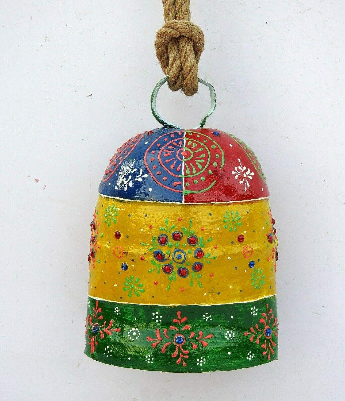 Triveni mart Art Crafts Vintage Swiss Outstanding Cow Decorative Metal Emb Bell
