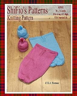 knitting pattern - KP332 - plain baby cocoon - 0-3mths, 3-6mths - USA Terminology