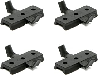4 Pack DLP Tactical Universal Accessory Mount Adaptor for ARC Rail Equipped ACH / FAST / MICH Combat Helmet (Black)