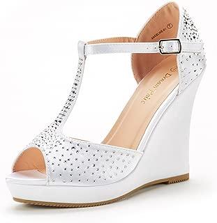Women's Platform Wedge Sandals Peep Toe Wedge Pumps