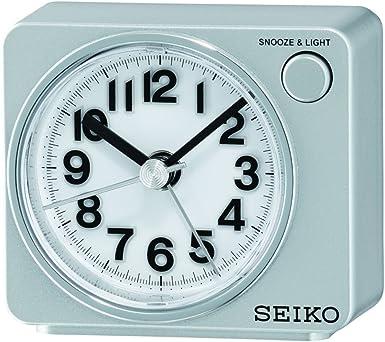 SEIKO QHE100S - Reloj Despertador con Luz y Movimiento