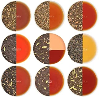 VAHDAM, Chai Tea Sampler - 10 TEAS, 50 Servings | 100% NATURAL SPICES | India's Original Masala Chai Teas | Brew Hot, Iced or Chai Latte | Tea Variety Pack & Tea Gift Set - Chai Tea Loose Leaf, 3.53oz