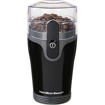 Hamilton Beach Fresh Grind 4.5oz Electric Coffee Grinder for Beans, Spices and More, Stainless Steel Blades, Black (80335R)