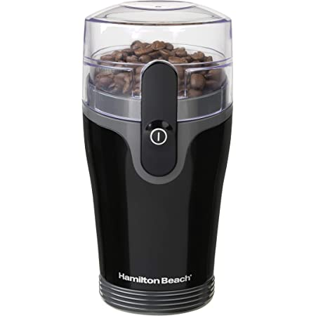 Hamilton Beach Fresh Grind Electric Coffee Grinder for Beans, Spices and More, Stainless Steel Blades, Removable Chamber, 4.5oz, Black