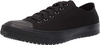 Men's Non Slip Black Delray Leather Work Sneaker