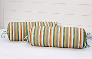 "AURAVE Cotton 144 TC Bolster Cover (15""x30""_Multi)"