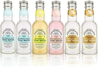 Fentimans Tonic Water Mixed Case of Refreshingly Light, Premium, Pink Grapefruit & Botanical Tonic Waters (6)