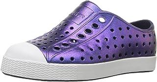 Native Shoes Girls' Jefferson Child-K Slip-On Grey/Shell White/Galaxy Iridescent 10 Toddler M US