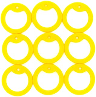 100pcs Military Army Dog Tag Silencer Silicone/Rubber Silencer Yellow Color