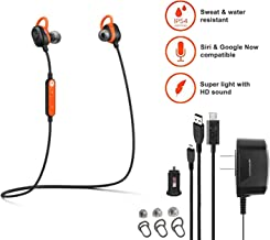 Motorola VerveLoop -HD- Wireless Stereo Earbuds Sweat & Water Resistant Siri & Google Compatible -W Extra Ear Gel + Car/Wall Charger (Retail Packing Kit)