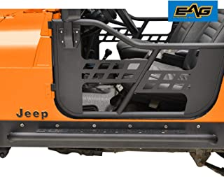EAG Off-Road Steel Rocker Guard with Step Running Boards Fit for 76-86 Jeep Wrangler CJ7