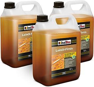 15 litros de aceite de linaza para proteger la madera, doble cocción, natural, aceite de linaza para madera, barniz sin re...