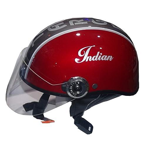 Target Indian Half Face Helmets For Moter Bike (Red)