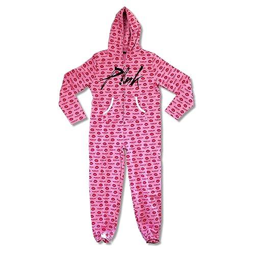 41d20b65 Pink P!NK Blow Me One More Kiss Adult Zip Jumper Pajama Suit