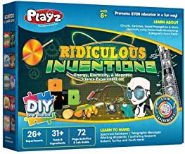 Playz Ridiculous Inventions Science Kits for Kids - Energy, Electricity & Magnetic Experiments Set - Build Electric Circui...