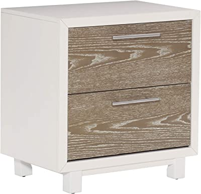 ContempStyle Elpasso 2-Drawer Night Stand San Remo Oak//White