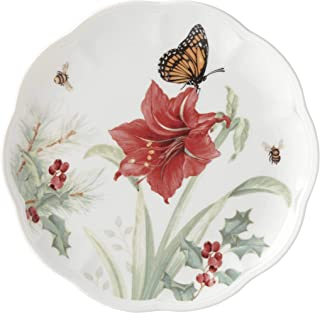 Lenox 884598 Butterfly Meadow Holiday Amaryllis Accent Plate