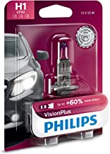 Philips H1 VisionPlus Upgrade Headlight Bulb with up to 60% More Vision, 1 Pack