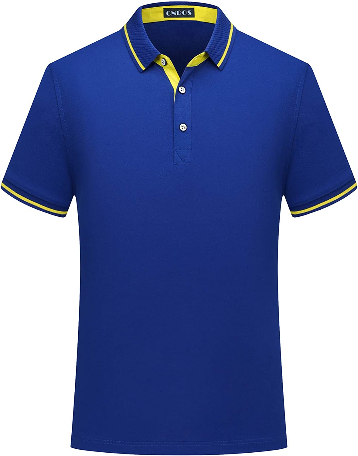 CNROS Men's Short Max 48% OFF Beauty products Sleeve Polo Solid Shirt