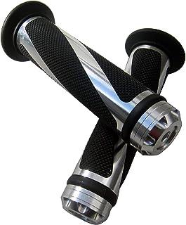 "MotorToGo Silver CNC Aluminum Motorcycle 7/8"" 22mm Handlebar Gel Grips for 2008 Triumph Tiger 1050"