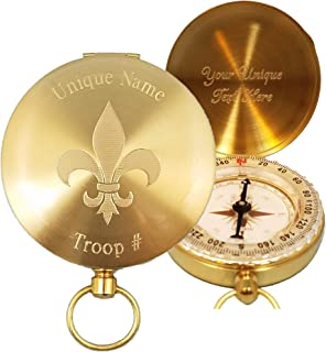 Stanley London Personalized Boy Scout Compass Gift Engraved