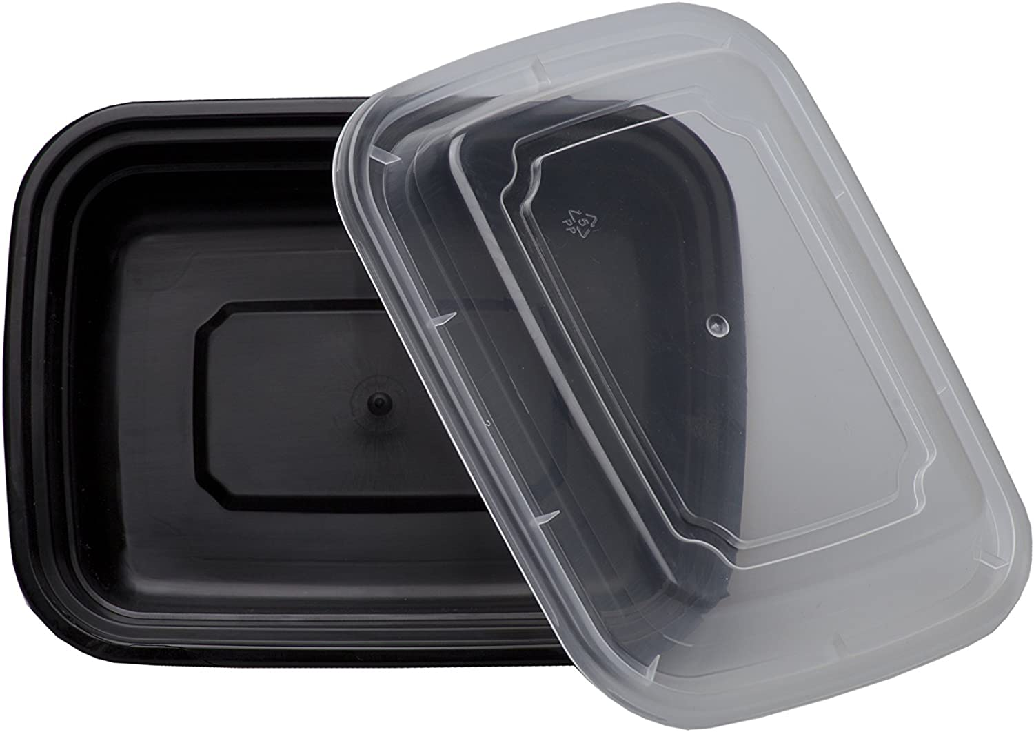 SAFEPRO 12 security oz. 67% OFF of fixed price Black Rectangular with Cle Container Microwavable