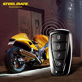 Star-Trade-Inc - Steelmate 986F 1 Way Motorcycle Alarm System Engine Immobilization Remote Engine Start with Two Transmitter