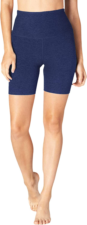 Beyond Yoga Womens Spacedye High Shorts Biker Financial sales Latest item sale Darkest Ni Waisted