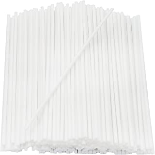 """Plastic Lollipop Sticks, Sucker Stick for Cake Pops Making Tools, Cookies, Candy, Chocolate, Party (100 Count, 6"""" Inches -..."""