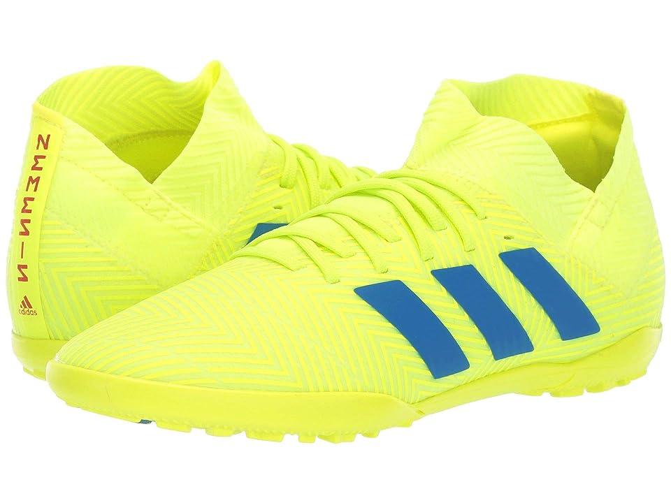 adidas Kids Nemeziz 18.3 TF Soccer (Little Kid/Big Kid) (Solar Yellow/Blue/Active Red) Kids Shoes